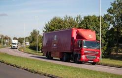 lorrypostkunglig person Arkivbilder