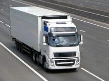lorrywhite Royaltyfri Foto