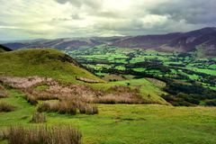 Lorton Vale green pastures Royalty Free Stock Photography