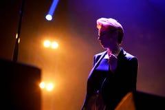Losów Angeles Roux muzyka na żywo przedstawienie przy Bime festiwalem (elektroniczny zespół) Zdjęcia Royalty Free