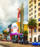 Los安赫莱斯好莱坞大道 免版税库存照片