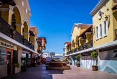 Los的Algodones,墨西哥最佳的医院治疗区 免版税图库摄影