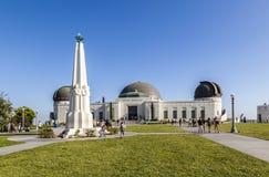 Los的Feliz/好莱坞洛杉矶格里斐斯公园观测所 免版税库存图片