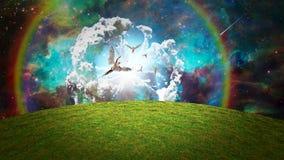 Los ángeles aparecen ilustración del vector