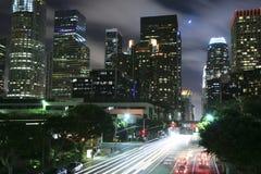 Los Ángeles bajo claro de luna Fotografía de archivo