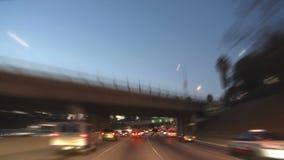 Los Ángeles - cámara montada coche - Timelapse - clip 17 almacen de metraje de vídeo