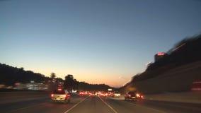 Los Ángeles - cámara montada coche - Timelapse - clip 15 almacen de metraje de vídeo