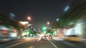 Los Ángeles - cámara montada coche - Timelapse - clip 2 almacen de metraje de vídeo