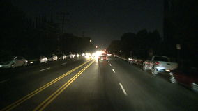 Los Ángeles - cámara montada coche - Timelapse - clip 3 almacen de video