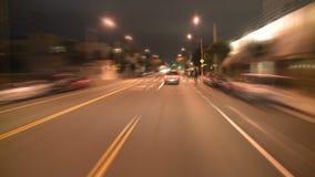 Los Ángeles - cámara montada coche - Timelapse - clip 13 almacen de video