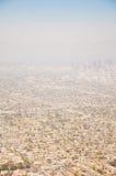Los Ángeles céntrico, opinión de ojo de pájaro en el día asoleado Fotos de archivo libres de regalías