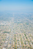 Los Ángeles céntrico, opinión de ojo de pájaro en el día asoleado Imagen de archivo