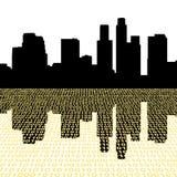 Los Ángeles con código binario ilustración del vector