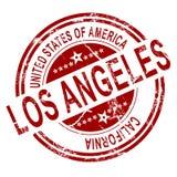 Los Ángeles con el fondo blanco ilustración del vector