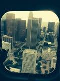 Los Ángeles en helicóptero Imagen de archivo libre de regalías