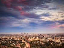 Los Ángeles en la puesta del sol Fotografía de archivo libre de regalías