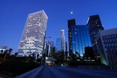 Los Ángeles hermoso bajo claro de luna Imagen de archivo libre de regalías