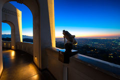 Los Ángeles según lo visto de Griffith Observatory fotos de archivo