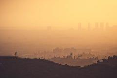 Los Ángeles Smoggy fotografía de archivo