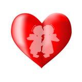Los ángeles y el corazón Fotos de archivo libres de regalías