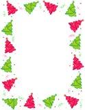 Los árboles de navidad confinan/marco stock de ilustración