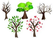 Los árboles fijaron elementos del vector imágenes de archivo libres de regalías