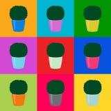 Los árboles inconsútiles del topiary del verde del modelo el arte pop, vector EPS 10 libre illustration
