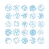 Los árboles y la opinión superior del artículo del arbusto para el paisaje diseñan ilustración del vector