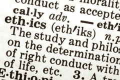 Los éticas Foto de archivo