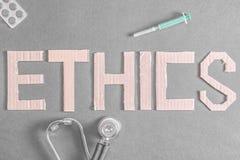 Los éticas médicos imagen de archivo