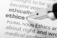 Los éticas - serie del diccionario Imagen de archivo libre de regalías