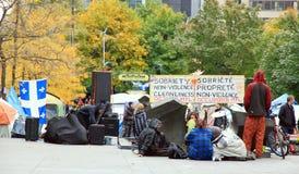 Los 99% ocupan el movimiento en Montreal Imágenes de archivo libres de regalías