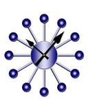los años 50 labran el reloj retro Ilustración del Vector