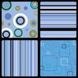 Los años 70 wallpaper el azul Imagen de archivo libre de regalías