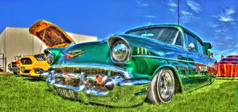 los años 50 Chevy verde Fotografía de archivo libre de regalías