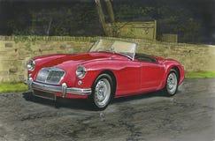 Los años 60 del automóvil descubierto de MGA Fotos de archivo