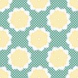 los años 50 diseñan la polca Dots Seamless Vector Pattern de la flor Llustration exhausto de Lacy Retro Daisies ilustración del vector