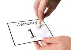 Los Años Nuevos de resolución abandonaron el fumar Imágenes de archivo libres de regalías