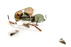 Los años pasados de gafas de sol. Copyspace Foto de archivo