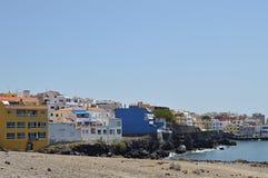 Los Abrigos stad in Tenerife Stock Foto