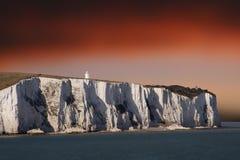 Los acantilados blancos Imagen de archivo