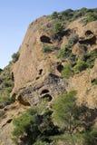 Los acantilados de la piedra caliza Imagen de archivo