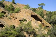 Los acantilados de la piedra caliza Fotografía de archivo