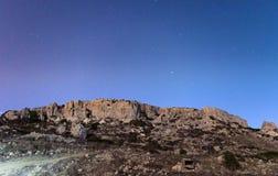 Los acantilados de Mgiebah Fotografía de archivo libre de regalías