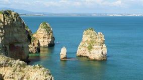Los acantilados ven en Lagos, Algarve