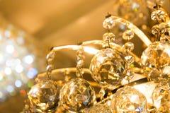 Los accesorios chispeantes de la bola de cristal de la lámpara Imágenes de archivo libres de regalías
