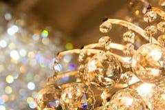 Los accesorios chispeantes de la bola de cristal de la lámpara Imagen de archivo libre de regalías