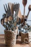Los accesorios de la cocina Foto de archivo