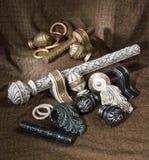 Los accesorios de la cortina Fotos de archivo