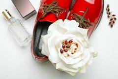 Los accesorios de las mujeres elegantes Foto de archivo libre de regalías